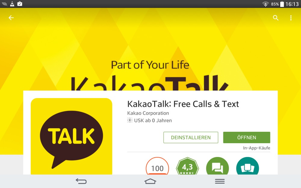 KakaoTalk Messenger   Screenshot: Redaktion