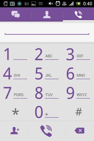 Screenshot: Viber - Tastenfeld