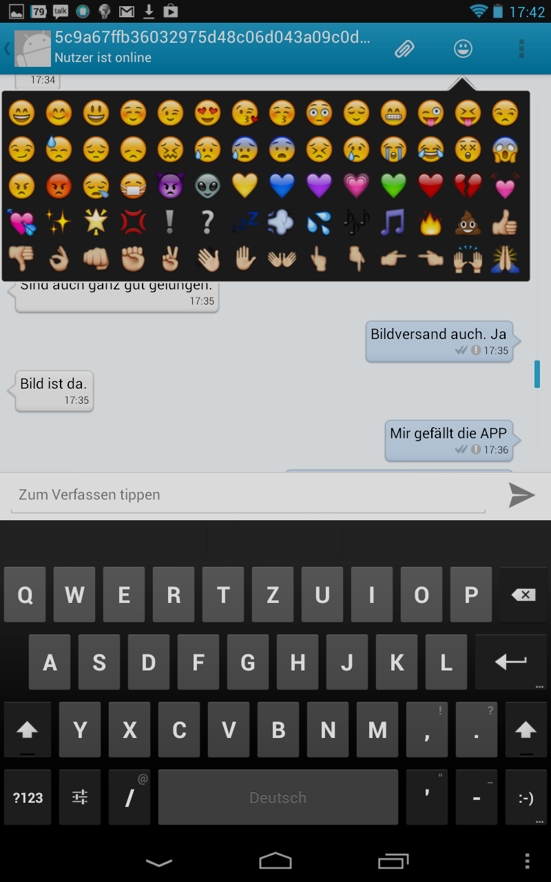 Screenshot: Kontalk - Smileys