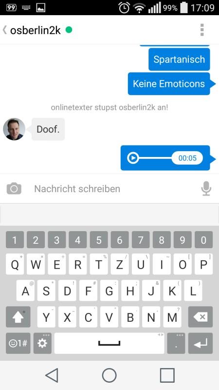 Trillian Multi-Messenger auf dem Smartphone   Screenshot: Redaktion