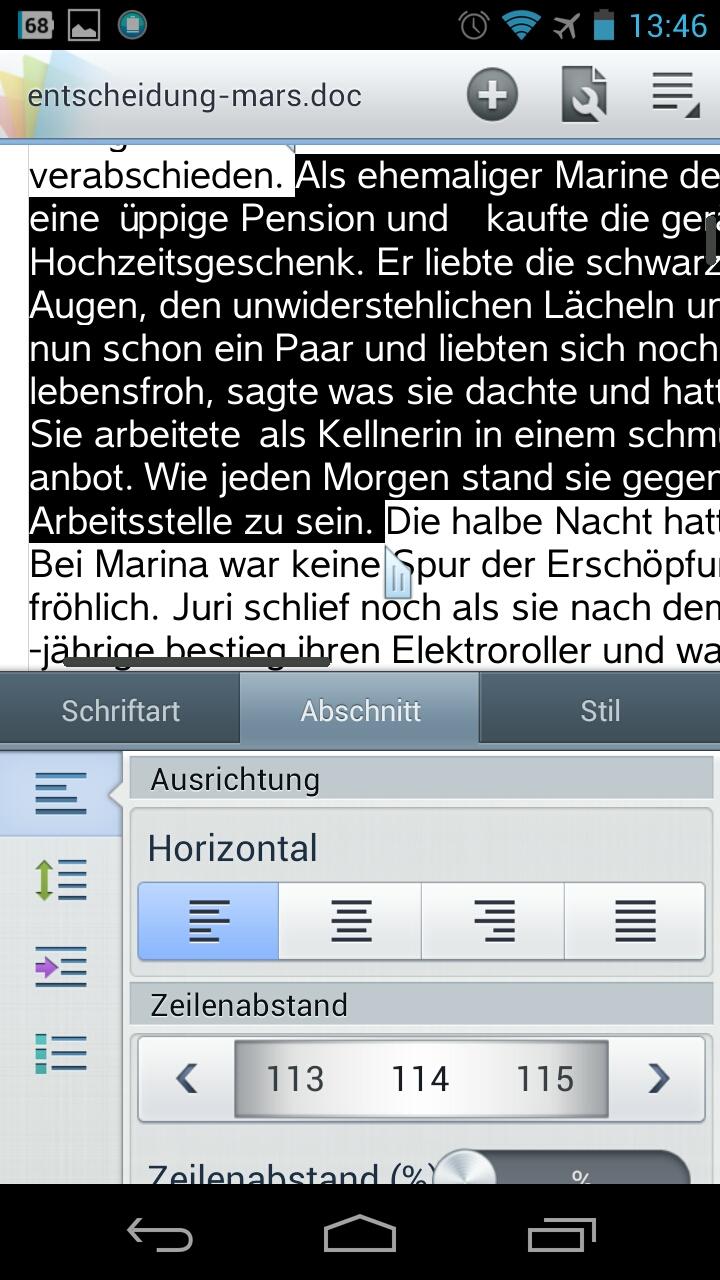 Screenshot: Polaris-Office - Textverarbeitung