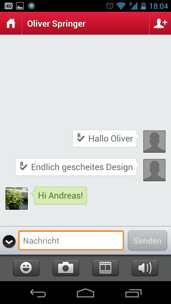 Screenshot: Touch Messenger - Chat