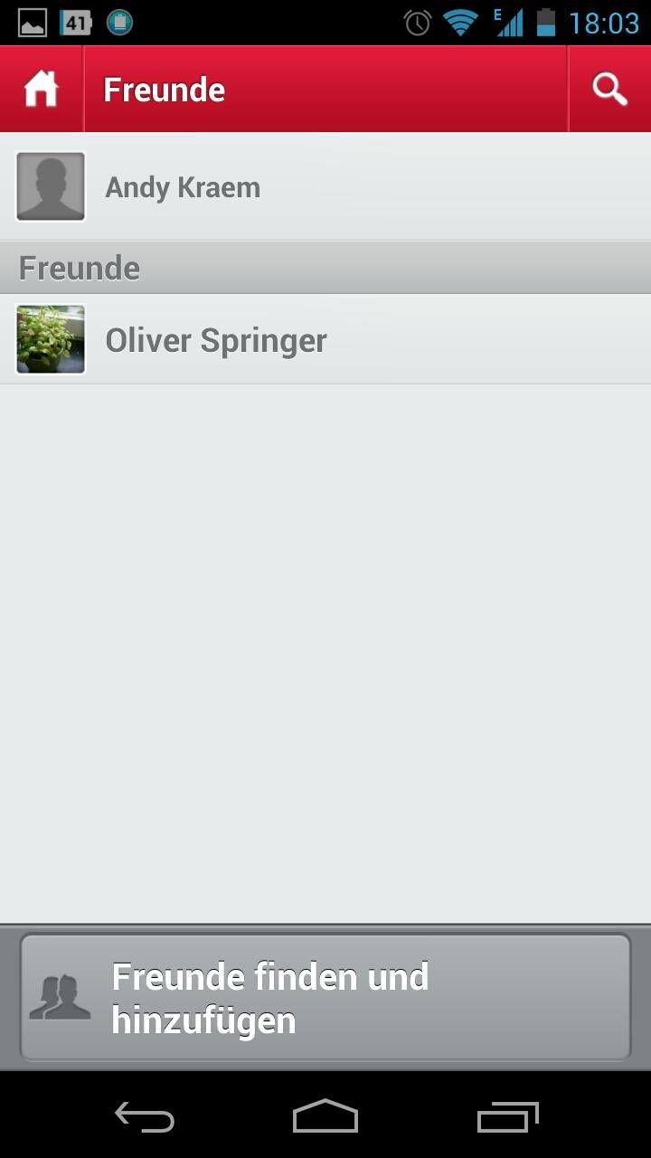 Screenshot: Touch Messenger - Freunde