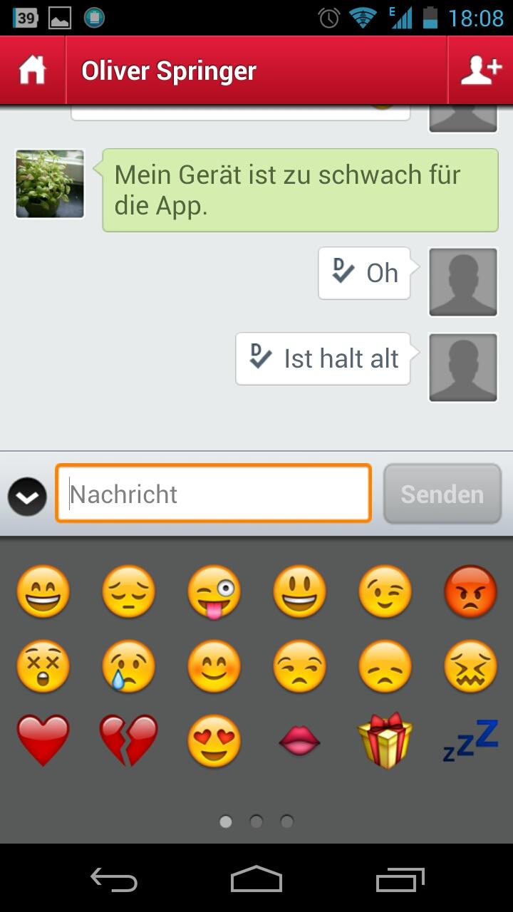 Screenshot: Touch Messenger - Smileys