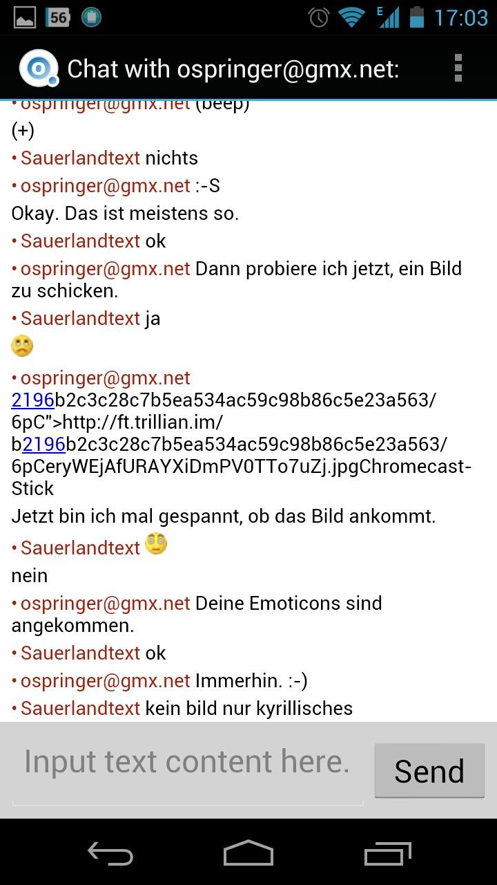 Screenshot Octro Talk - Chat