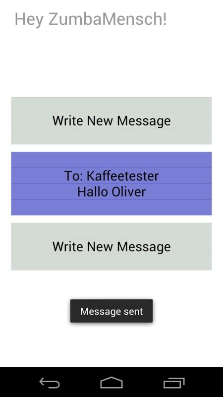 Screenshot: Hey! Messaging | Bild: Redaktion