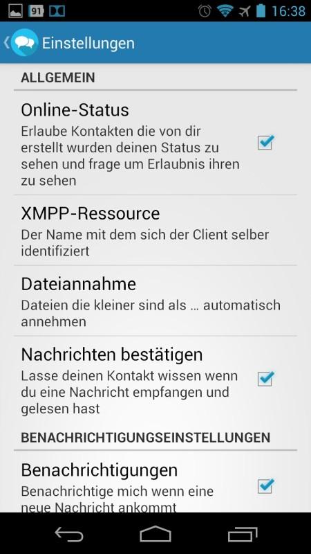 Screenshot: SecuGab Messengerr | Bild: Redaktion