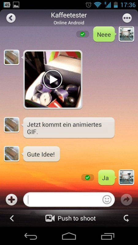 Screenshot: MiTalk Messenger | Bild: Redaktion