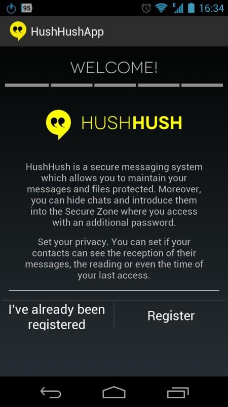 Screenshot: HushHush Secure | Bild: Redaktion