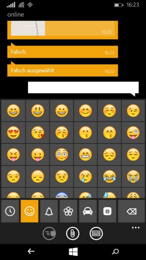 Screenshot: Whats App Emoticons | Bild: Redaktion