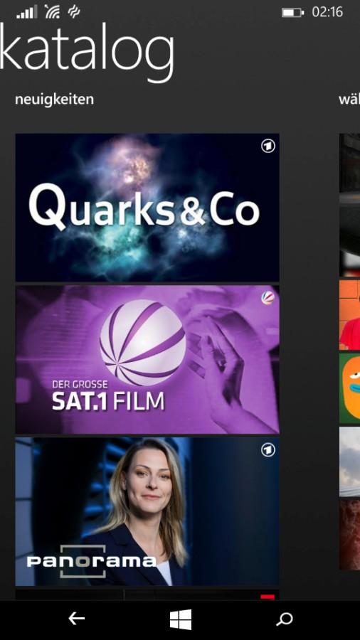 Screenshot: dailyme Tv-App | Bild: Redaktion