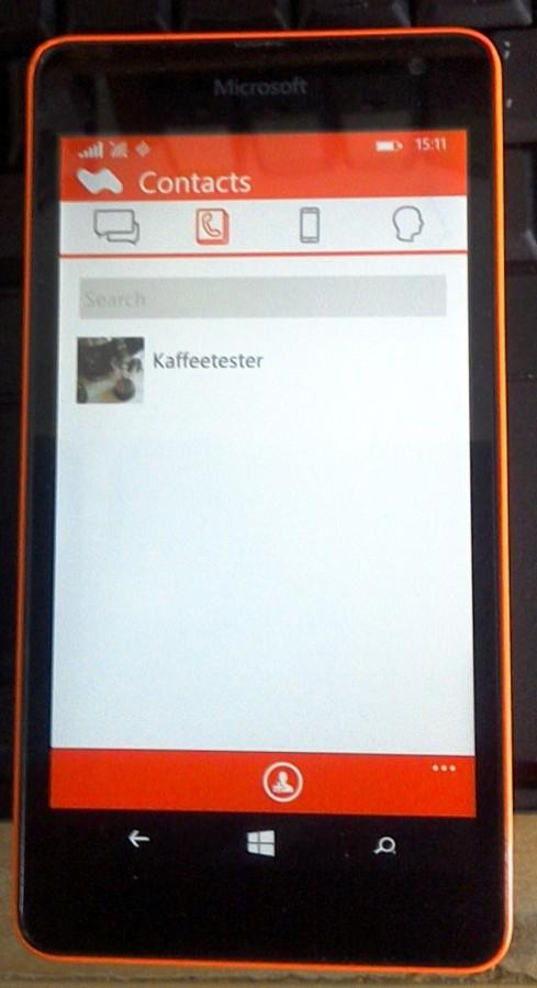 Messenger-App Chadder   Screenshot: Redatkon