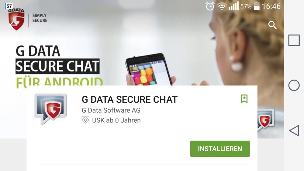 G DATA SECURE CHAT | Screenshot: Redaktion