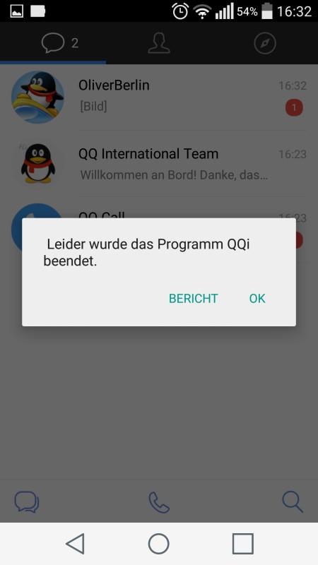 Screenshot: QQ International App   Screenshot: Redaktion