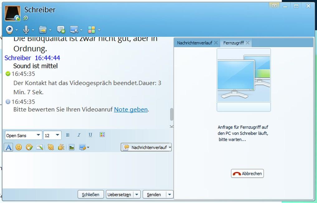 Screenshot: QQ International für den Desktop   Screenshot: Redaktion