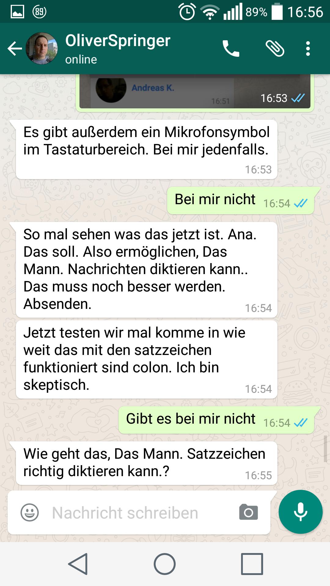 WhatsApp auf Android   Screenshot: Redaktion