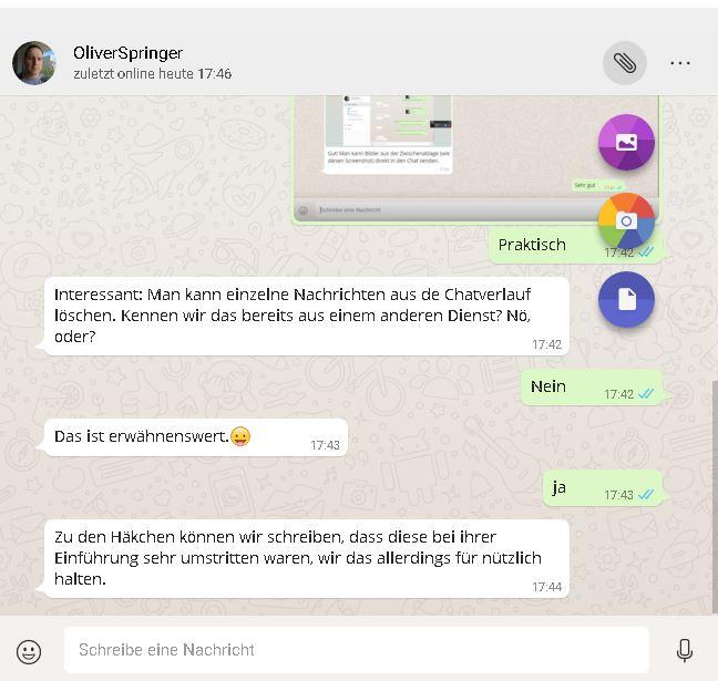 WhatsApp-Homepage   Screenshot: Redaktion